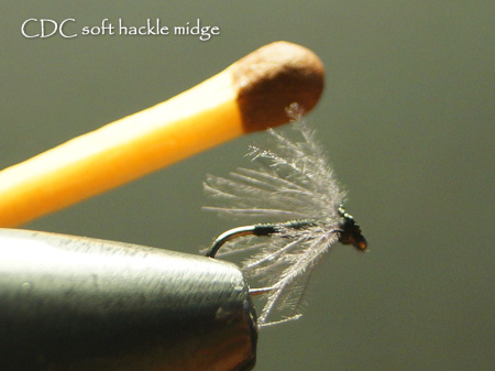 Tim Rolston's ultra-simple CDC midge resembles the majority of insects which trout in the Western Cape eat